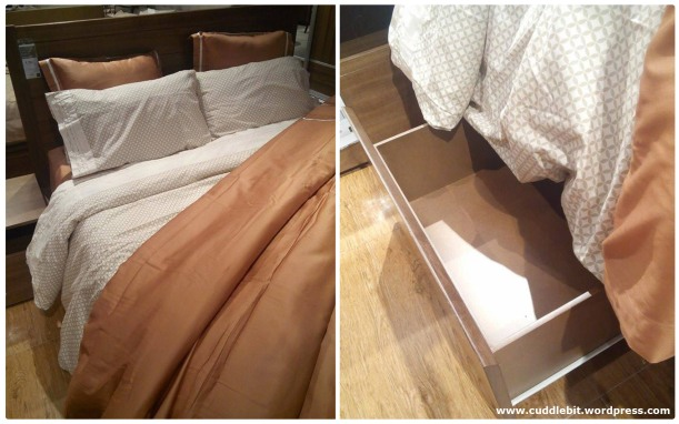 The main reason why we are so keen on this? storage under the bedframe