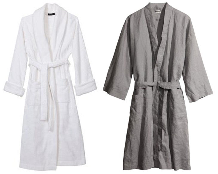 a terry cloth robe and linen robe -photos from the internet