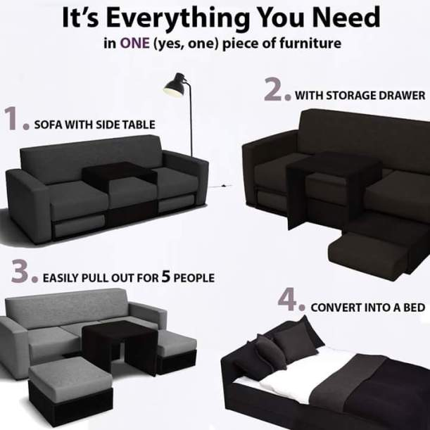 transforming couch. cool.